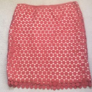 Talbots pencil skirt Coral color 14